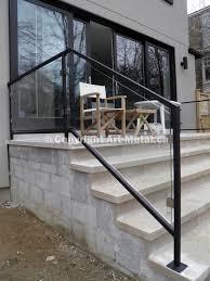 Glass Handrails For Stairs Modern Stair Railings U0026 Handrails Toronto Mississauga Gta