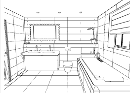 bathroom drawing on stylish home interior decorating all about