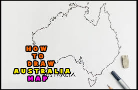 how to draw a map how to draw australia map