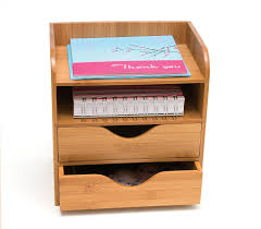Wood Desk Drawer Organizer Tables Mini Desk Organizer Constructed Of Bamboo Great For Kitchen
