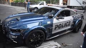 transformers ford mustang transformers mustang loading into trailer in