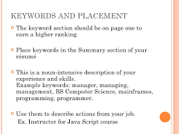 Keywords For Resumes The Scannable Resume