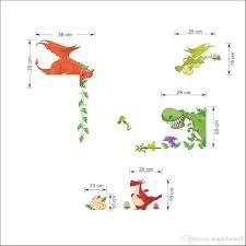 home decor wall art stickers cartoon dinosaur wall art mural sticker decor kids baby boys girls