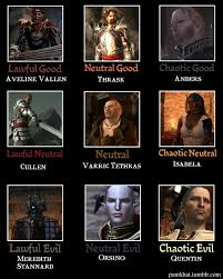 Dragon Age Meme - alignment memes are usually pretty off but this dragon age 2 one is