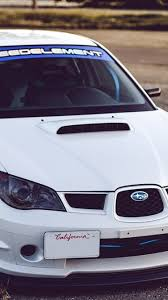 subaru iphone wallpaper download wallpaper 750x1334 subaru impreza wrx sti white auto