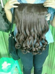 harga hair clip curly hairclip grosir on ready hair clip curly darkbrown big