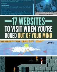 17 websites to visit when you u0027re bored out of your mind