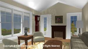 Carolina Home Plans 3d Images For Chp Sg 1016 Aa Cottage Style 3d House Plan Views