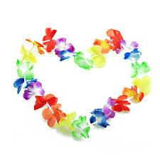 hawaiian leis 20pcs lot hawaiian leis party supplies garland necklace colorful