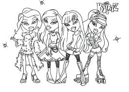 coloring pages barbie bratz coloring pages free printable