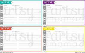 printable recipe cards 4 x 6 free printable recipe cards free printable recipe cards and artsy