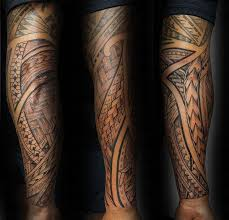 40 polynesian sleeve tattoo designs for men tribal ink ideas