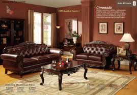 Living Room Furniture Set Living Room Traditional Leather Furniture Eiforces