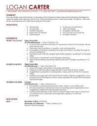 sales resume sle retail associate resume exle exles of resumes
