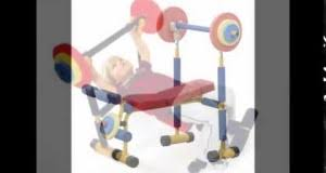 Weight Bench Set For Kids Physical Exercise Interest Website