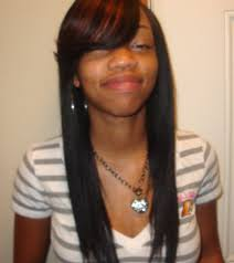 sew in weaves with bangs sew in weave with side bangs for straight hairstyles black women