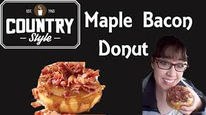 country style u0027s maple bacon donut pam tries for the first time
