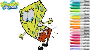 spongebob squarepants coloring book ripped pants nickolodeon