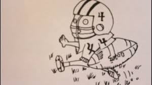 how to draw a cartoon football player easy step by step drawing