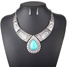 women necklace accessories images Women necklace vintage statement necklaces pendants water drop jewelry jpg
