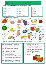 count and noncount nouns exercises pdf