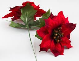 velvet artificial poinsettia floral florals