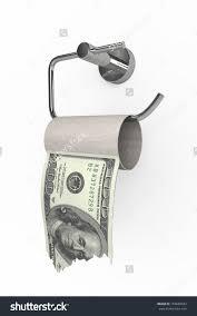 roll 100 dollars bills on toilet stock illustration 159660932