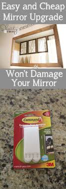 cheap bathroom mirror how to frame a mirror with clips in 5 easy steps house bath and