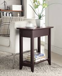 rosewood tall end table coffee brown amazon com convenience concepts american heritage flip top end
