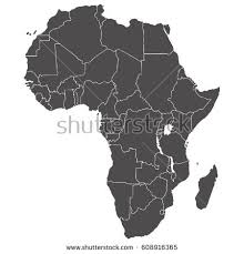 africa map high resolution map africa stock vector 225379642