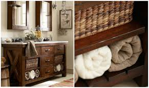 Wicker Shelves Bathroom by Bathroom Decoration Design Ideas Using Dark Brown Wooden Open