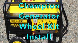 champion generator wheel kit install youtube