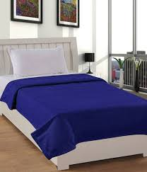 Cheap Single Bed Mattress India Buy Exporthub Premium Blue Polar Fleece Blanket Single Bed Blue