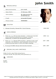 Jobs Resume Pdf by Printable Blank Resume Template Free Pdf Format Download Pdf