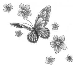 butterfly and flower tattoo designs 1000 images about tattoo