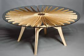 custom round dining tables corona dining table solid wood glass furniture seth rolland