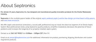 Additional Information Examples Septronics Inc Oconomowoc Wisconsin Wi 53066