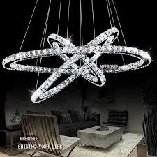 Led Pendant Light Fixtures Brilliant Crystal Light Fixtures Hot Selling 3 Diamond Ring