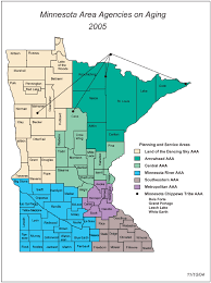 mn counties map seven area agencies on aging in minnesota aaas