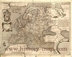 Historical Maps Of Europe by Map Of Europe In The 1600 U0027s
