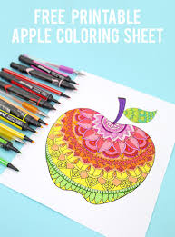 apple coloring page apple coloring page free printable lines across