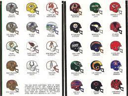 nfl thanksgiving history sticker album 1984 85 jeno u0027s pizza nfl helmets sportspaper info