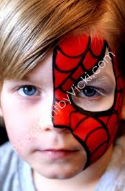 coloring dazzling face paint dog painting spiderman