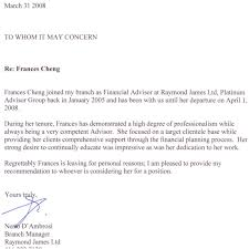 best solutions of reference letter financial advisor about cover