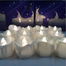 24pcs yellow flicker battery candles plastic electric candles