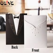 wedding cards for and groom 20 pcs wedding invitations cards laser cut and groom