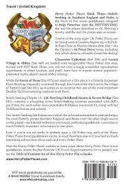 harry potter places book snitch seeking southern england