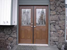 Exterior Slab Door Replacement by White Masonite French Exterior Doors
