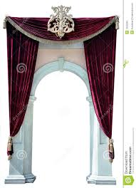 Velvet Curtains Red Velvet Curtains And Arch Cutout Stock Image Image 13242991