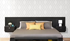 floating headboard ideas platform bed with floating nightstands diy modern platform bed